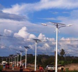 Installation of 409 streetlights solar street lighting.